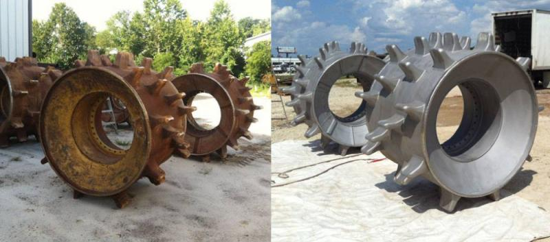 before and after dustless blasting
