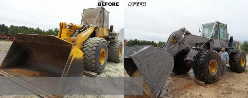 Hy Equipment Before and After Blasting