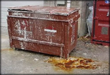 dumpster pad cleaning have a slippery greasy situation? let us handle it for you