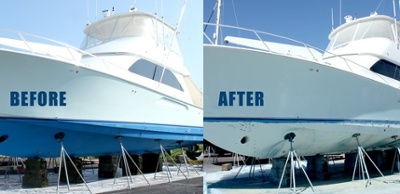 fiberglass boat stripping by dustless blasting direct